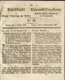 Amtsblatt der Königlichen Regierung zu Posen. 1838.10.02 Nro.40