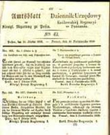 Amtsblatt der Königlichen Regierung zu Posen. 1838.10.16 Nro.42