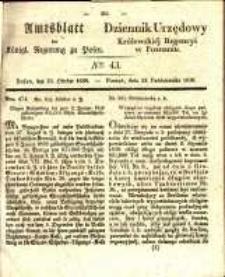 Amtsblatt der Königlichen Regierung zu Posen. 1838.10.23 Nro.43