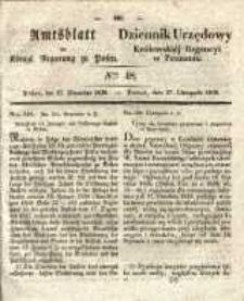 Amtsblatt der Königlichen Regierung zu Posen. 1838.11.27 Nro.48
