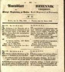 Amtsblatt der Königlichen Regierung zu Posen. 1840.03.24 Nro.12