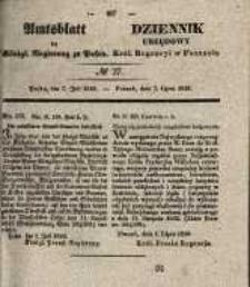 Amtsblatt der Königlichen Regierung zu Posen. 1840.07.07 Nro.27