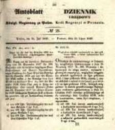 Amtsblatt der Königlichen Regierung zu Posen. 1840.07.21 Nro.29