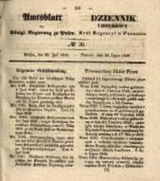 Amtsblatt der Königlichen Regierung zu Posen. 1840.07.28 Nro.30