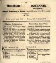 Amtsblatt der Königlichen Regierung zu Posen. 1840.08.18 Nro.33