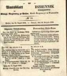 Amtsblatt der Königlichen Regierung zu Posen. 1840.08.25 Nro.34