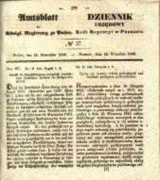 Amtsblatt der Königlichen Regierung zu Posen. 1840.09.15 Nro.37