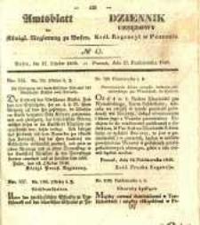 Amtsblatt der Königlichen Regierung zu Posen. 1840.10.27 Nro.43