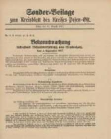 Kreis-Blatt des Kreises Posen-Ost 1917.08.31 Jg.29 Nr46 Sonder Beilage