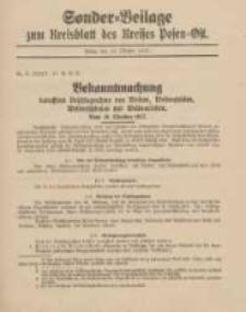 Kreis-Blatt des Kreises Posen-Ost 1917.10.13 Sonder Beilage