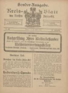 Kreis-Blatt des Kreises Posen-Ost 1918.06.26 Jg.30 Nr28 Sonder Ausgabe
