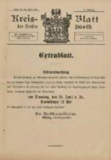 Kreis-Blatt des Kreises Posen-Ost 1898.06.25 Jg.11 Extra Blatt