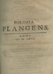 Polonia plangens