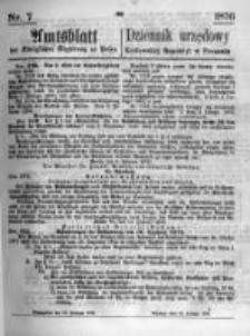 Amtsblatt der Königlichen Regierung zu Posen. 1876.02.16 Nro.7