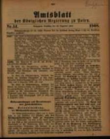 Amtsblatt der Königlichen Regierung zu Posen. 1908.12.22 Nro.51
