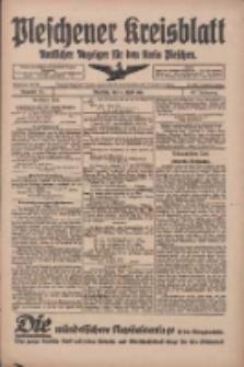 Pleschener Kreisblatt: Amtliches Anzeiger für den Kreis Pleschen 1918.04.06 Jg.66 Nr28