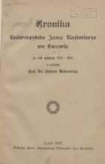 Kronika Uniwersytetu Jana Kazimierza we Lwowie za rok szkolny 1923-1924 za rektoratu prof.dra Juliusza Makarewicza T.14