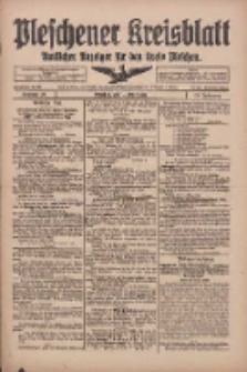 Pleschener Kreisblatt: Amtliches Anzeiger für den Kreis Pleschen 1918.03.16 Jg.66 Nr22