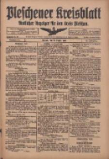 Pleschener Kreisblatt: Amtliches Anzeiger für den Kreis Pleschen 1918.10.19 Jg.66 Nr84