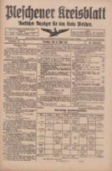Pleschener Kreisblatt: Amtliches Anzeiger für den Kreis Pleschen 1918.04.24 Jg.66 Nr33
