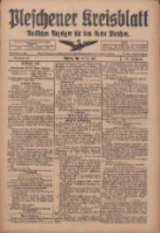 Pleschener Kreisblatt: Amtliches Anzeiger für den Kreis Pleschen 1918.05.15 Jg.66 Nr39