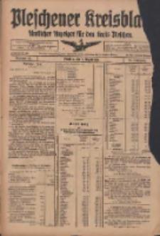 Pleschener Kreisblatt: Amtliches Anzeiger für den Kreis Pleschen 1918.08.07 Jg.66 Nr63