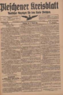 Pleschener Kreisblatt: Amtliches Anzeiger für den Kreis Pleschen 1918.08.14 Jg.66 Nr65