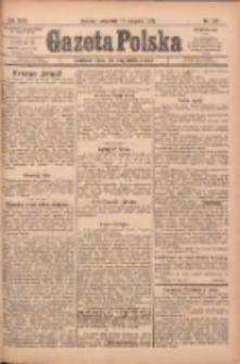 Gazeta Polska: codzienne pismo polsko-katolickie dla wszystkich stanów 1922.08.10 R.26 Nr181