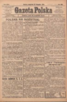 Gazeta Polska: codzienne pismo polsko-katolickie dla wszystkich stanów 1922.11.23 R.26 Nr269