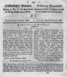 Oeffentlicher Anzeiger. 1848.11.22 Nro.47