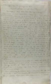 Kopia listu Piotra Tylickiego biskupa warmińskiego podkanclerzego koronnego do Zygmunta III króla Polski, Malbork 12.05.1601