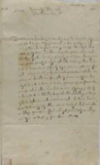 Jan Karol Chodkiewicz do króla, Dorpat 19.06.1603