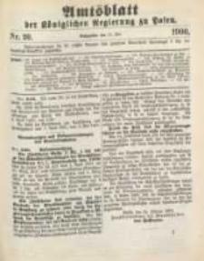 Amtsblatt der Königlichen Regierung zu Posen. 1900.05.15 Nro.20
