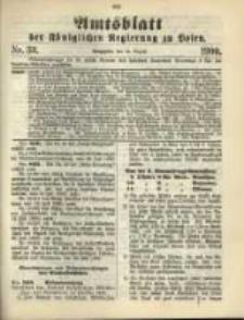 Amtsblatt der Königlichen Regierung zu Posen. 1900.08.14 Nro.33