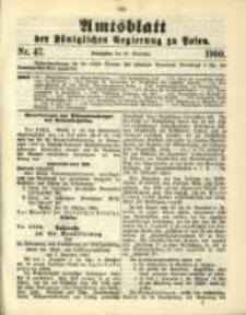Amtsblatt der Königlichen Regierung zu Posen. 1900.11.20 Nro.47