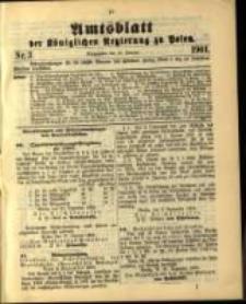Amtsblatt der Königlichen Regierung zu Posen. 1901.01.15 Nro.3