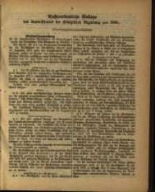 Außerordentliche Beilage des Amts=Blattes der Königlichen Regierung pro 1880