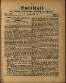 Amtsblatt der Königlichen Regierung zu Posen. 1880.07.07 Nro.27