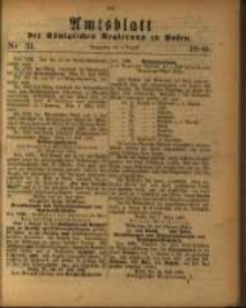 Amtsblatt der Königlichen Regierung zu Posen. 1880.08.03 Nro.31