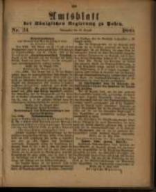 Amtsblatt der Königlichen Regierung zu Posen. 1880.08.24 Nro.34