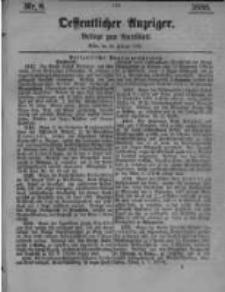 Oeffentlicher Anzeiger. Beilage zum Amtsblatt. Nr.8. 1885