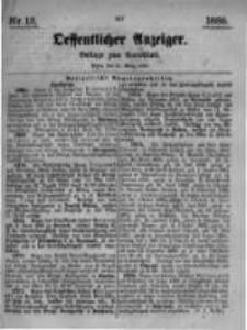 Oeffentlicher Anzeiger. Beilage zum Amtsblatt. Nr.13. 1885