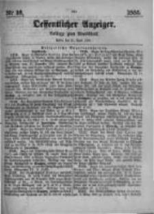 Oeffentlicher Anzeiger. Beilage zum Amtsblatt. Nr.16. 1885