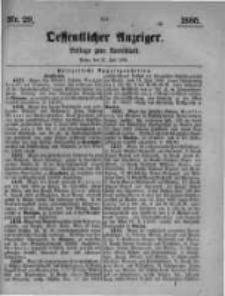 Oeffentlicher Anzeiger. Beilage zum Amtsblatt. Nr.29. 1885