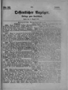 Oeffentlicher Anzeiger. Beilage zum Amtsblatt. Nr.32. 1885