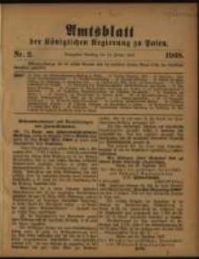 Amtsblatt der Königlichen Regierung zu Posen. 1908.01.14 Nro.2