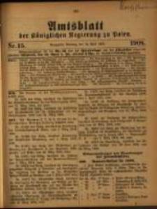 Amtsblatt der Königlichen Regierung zu Posen. 1908.04.14 Nro.15
