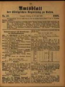 Amtsblatt der Königlichen Regierung zu Posen. 1908.04.28 Nro.17