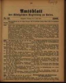 Amtsblatt der Königlichen Regierung zu Posen. 1908.07.07 Nro.27