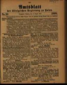 Amtsblatt der Königlichen Regierung zu Posen. 1908.08.11 Nro.32